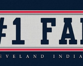 Cleveland Indians-Free Shipping-#1 DAD or #1 FAN Jersey Stitch Framed Print-MLB