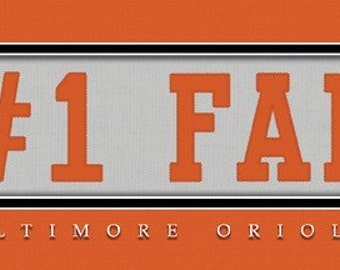 Baltimore Orioles-Free Shipping -#1 DAD or #1 FAN Jersey Stitch Framed Print-MLB