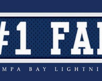 Tampa Bay Lightening-Free Shipping-#1 DAD or #1 FAN Jersey Stitch Framed Print-NHL