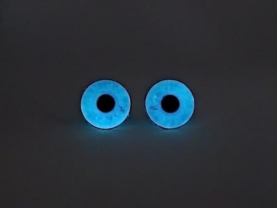 Glowing Mini Earrings Blue Eyes Glow in the Dark Earrings