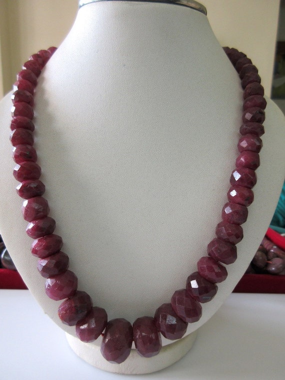 Natural Ruby Faceted Rondelle Beads, Ruby Bead Necklace ... - photo #49