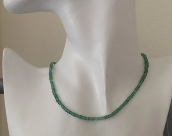 Green Spinel Gemstone Beads, Microfaceted, Rare