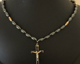 "21"" Hemalyke Cross Necklace"