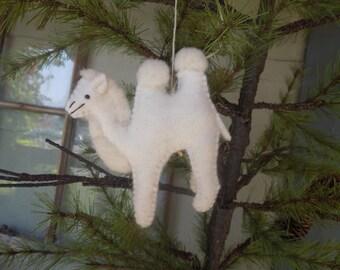 Camel, felt animal,felt camel,stuffed animal,christmas ornaments, ornament, toy, decoration, gift,