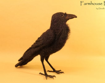 Needle Felted Raven - Made To Order