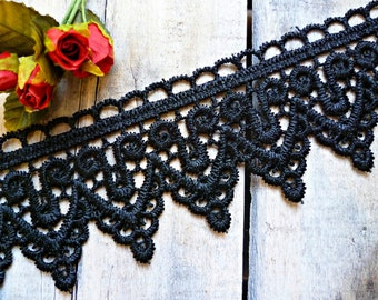 Special price - Black venice lace trim 2 mt
