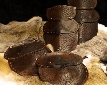 Leather armour larp tassets (Fenir Design)