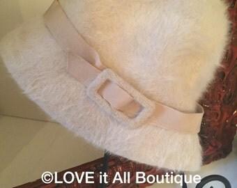Vintage Fur Hat Beige Fur Hat Tan Fur Hat LOVE IT ALL Boutique
