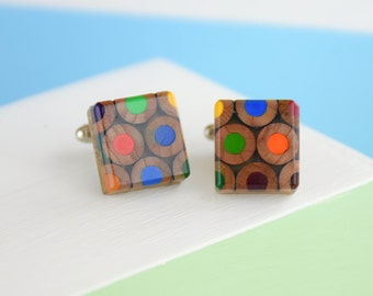Artist Pencil Colour Palette Cufflinks [ARTC001]