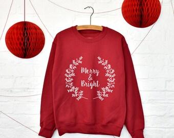 Merry & Bright Christmas Jumper [XMJPR-007]