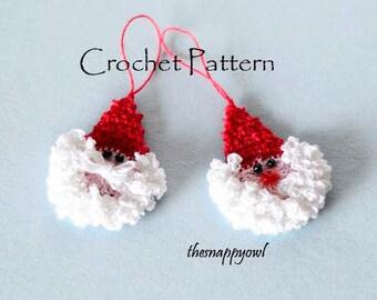 Crochet Santa Pattern,Crochet Santa Claus Pattern, Crochet Santa Ornament Pattern, Crochet Christmas Pattern, Crochet Santa, Christmas Decor
