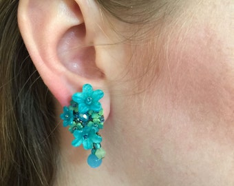 TURQUOISE EARRINGS Designed by Vintage Jewelry Designer Colleen Toland