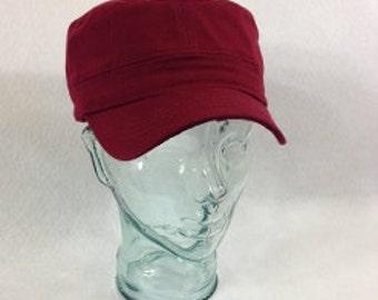 Blank Burgundy Cadet Hat