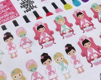 Me Time Pamper Yourself Cute Planner Stickers