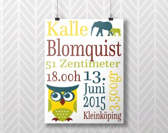 Art Print With Birth Dates
