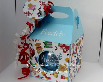 100mm Round Bauble/Ornament Box Template