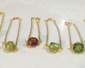 wire wrap gemstone bracelet