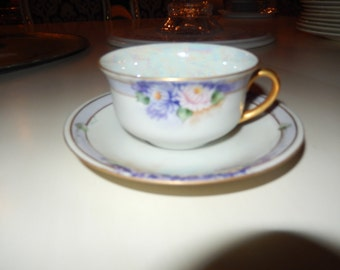 BAVARIA JAEGER TEACUP and Saucer Set