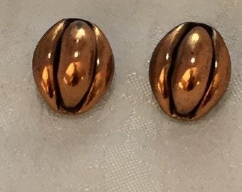 Rebojes 1960's copper clip earrings