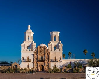 "Mission San Xavier ""Mission Morning"" Fine Art Photograph (9.5"" x 13.25"" print on 14"" x 18"" archival board) Limited Edition Signed"