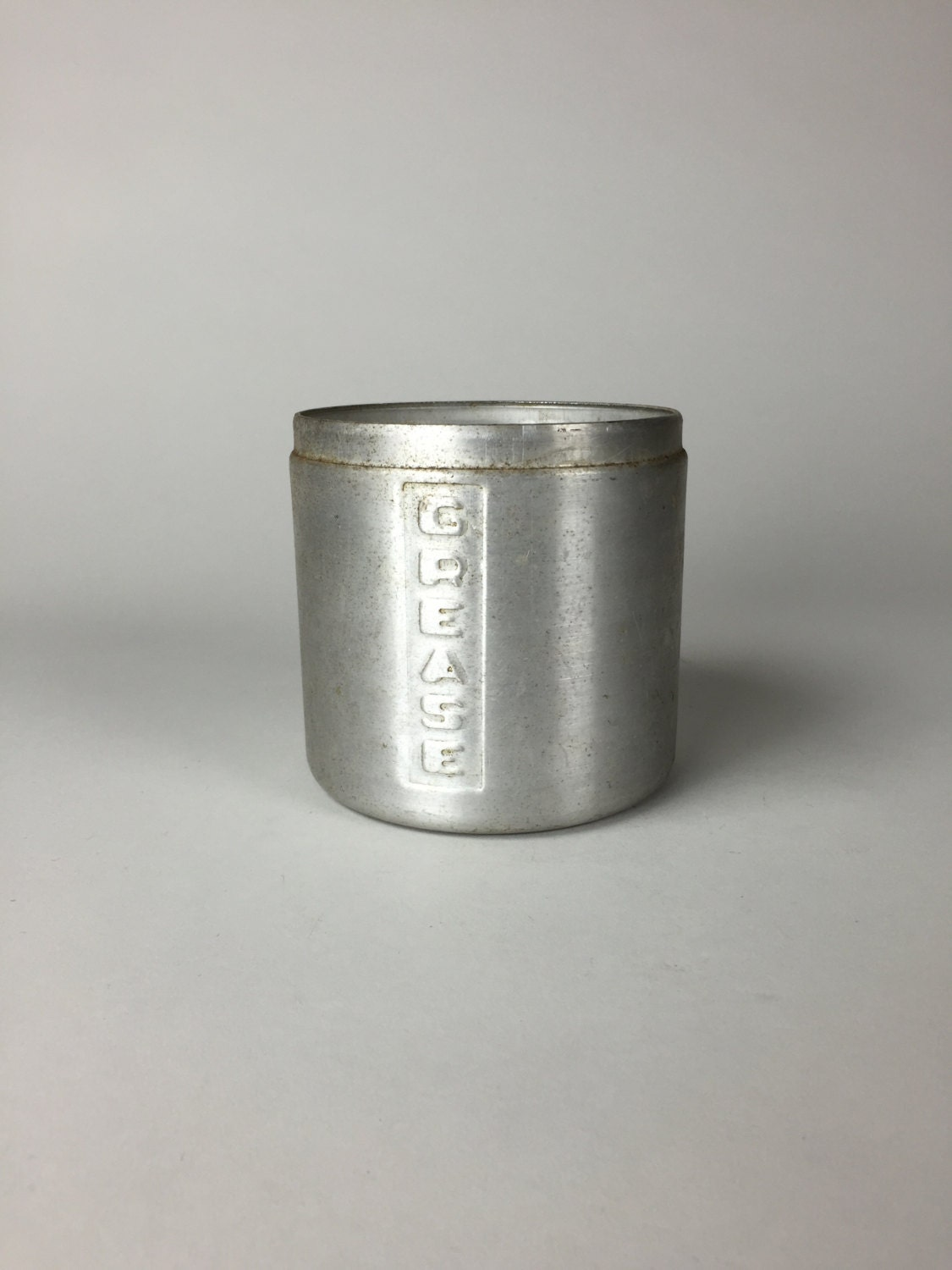 mid century aluminum bacon grease oil canister from the. Black Bedroom Furniture Sets. Home Design Ideas