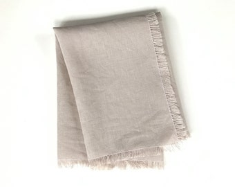 Frayed Linen Napkins - Natural - Set of 4