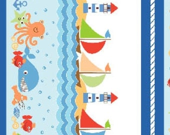 Benartex Seaside Collection - White Seaside Stripe