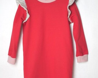 GALAXY Rangers DRESS children red with gathered