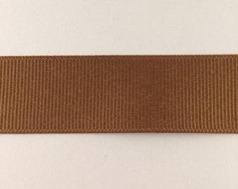 7/8 inch coffee brown grosgrain ribbon