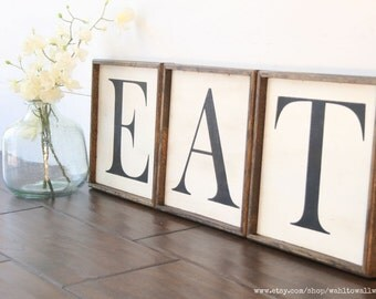 eat letters | etsy
