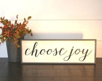 Choose Joy sign, wooden joy sign, farmhouse style wood sign, JOY sign, vintage style joy sign, joy wall art, encouragement gift, joy decor