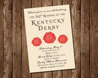 Elegant Kentucky Derby Party Invitation