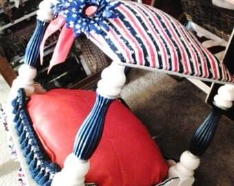 Patriotic/American pet bed