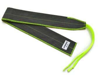Charcoal & Neon Yellow CrossFit Wrist Wraps