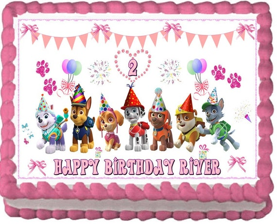 Etsy Cake Decorations : Paw Patrol Edible Cake Topper Decoration by RobinBlues on Etsy