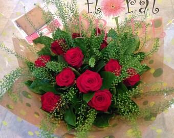 Dozen Fresh Red Roses