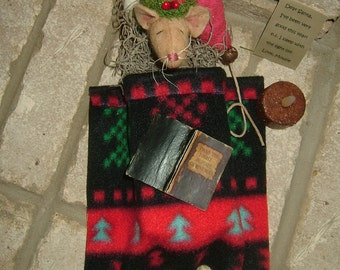 Primitive Sleeping Mouse In A Match Box~So Cute!