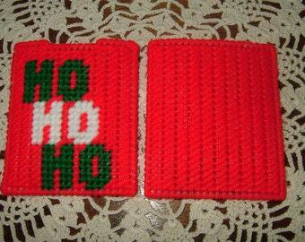 Gift Card Holder~Needlepoint~Plastic Canvas~Ho Ho Ho