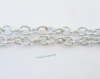 silver chain rings oval 10 mm x 8 1 meter