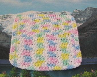 0332 Hand crochet dish cloth 7 by 7.5