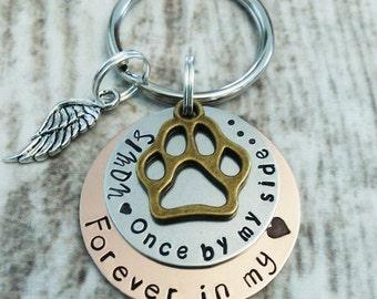 Pet Memorial Key Chain, Personalized, Pet Remembrance Key Chain, Memorial Gift, In Memory of Dog, Cat Memorial Key Chain, Sympathy Gift