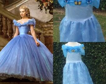 cinderella costume, pageant girl dress, halloween girl dresses