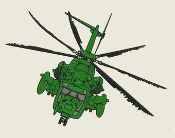 Army Helicopter Embroidery Design