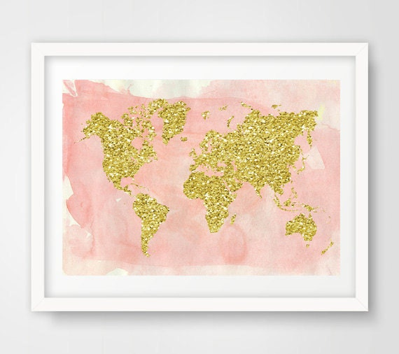 World map wall art map poster world map print map nursery like this item gumiabroncs Images