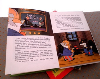 French vintage book, Doctor Snuggles, Mathilde Cachebidon Super Robot, French book 1981, vintage book for child