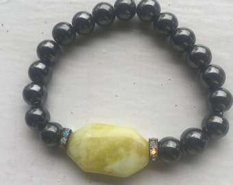 Gunmetal and Yellow-Green