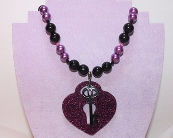 Heart Under Lock and Key Necklace