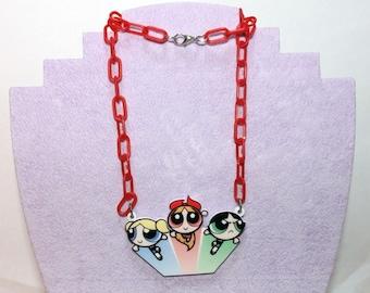 PowerPuff Girls Necklace
