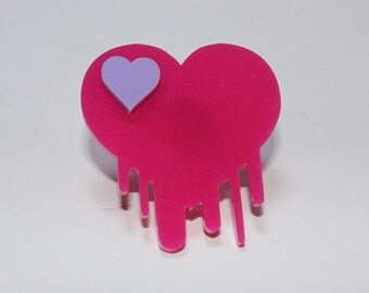 Dripping heart Ring