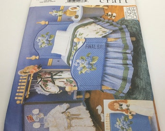 Vogue Craft Vogue Doll Collection Furniture Bed Dust Ruffle Pillow Case Dresser Table Linda Carr  9352 Sewing Pattern New Uncut